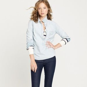 j.crew • faded chambray popover
